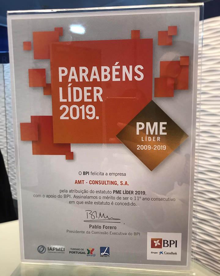 AMT Consulting é PME Líder 2019 – BPI