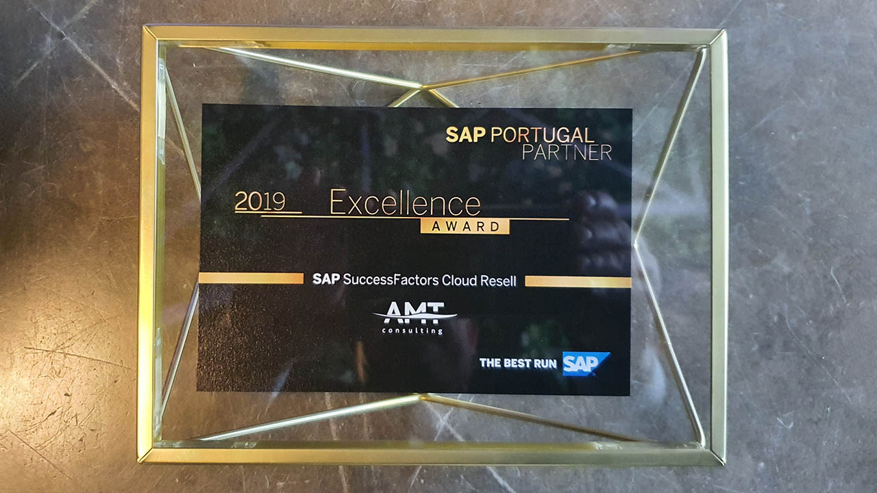 Excellence award 2019 SAP SuccessFactors Cloud Resell
